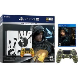 PlayStation 4 Pro 1TB Limited Death Stranding Edition 4K HDR Gaming Console Bundle With an Extra Green Camouflage DualShock 4 Wireless Controller