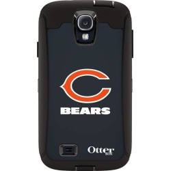 OtterBox Defender Case for Samsung GALAXY S4 - Retail Packaging - NFL Bears (Black Chicago Bears NFL Logo)