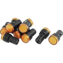 Unique Bargains 10 Pcs AD16-22D/S 20mA Plastic Shell Industrial Light Signals Indicator Lamp