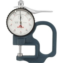 Thickness Gauge 0-10x30mm Measuring Range 0.01mm Resolution Round Dial Thickness Gauge