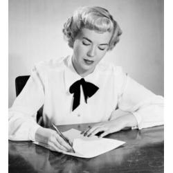 Posterazzi SAL255908 Portrait of Young Woman Writing Letter Poster Print - 18 x 24 in.