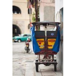 Cuba Havana Havana Vieja pedal taxi Poster Print by Walter Bibikow (25 x 37)