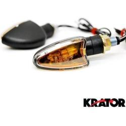 Krator Mini Custom Turn Signals Indicator Lights Lamp For Harley Davidson Softail Heritage Custom