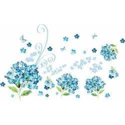 Unique Bargains Myosotis Pattern Self-adhesive Removable Wall Sticker Paper Mural Ornament found on Bargain Bro Philippines from Newegg Canada for $11.94