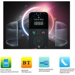 Bluetooth Car Kit MP3 Player LCD display FM transmitter USB Slot Support Car Charger Hands free Car Music Player