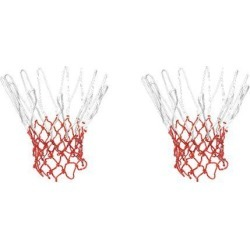 Unique Bargains 2 Pcs 15.7' Long Braided Nylon Sport Basketball Nets for Training Match