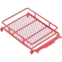 Metal Cargo Carrier Roof Luggage Rack Basket for RC 1/10 Model Car Red