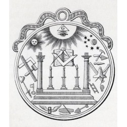 Posterazzi DPI1861677 Masonic Seal Engraving From the Book the History of Freemasonry Volume III Poster Print, 13 x 15