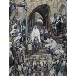 Posterazzi SAL999387 Procession in the Streets of Jerusalem James Tissot 1836-1902 French Poster Print - 18 x 24 in.