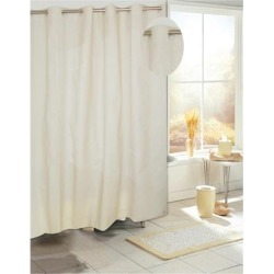 Carnation Home Fashions Living Room Decorative EZ-ON PEVA Shower Curtain in Ivory
