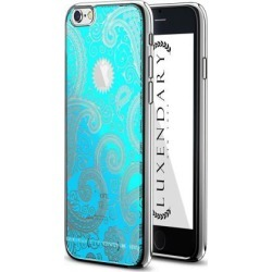 LUXENDARY BABY BLUE PAISLEY DESIGN CHROME SERIES CASE FOR IPHONE 6/6S PLUS