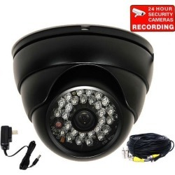 VideoSecu Outdoor Security Camera Built-in 1/3' SONY Effio CCD IR Day Night Wide Angle Lens 700TVL with Power Supply and Extension Cable BNG