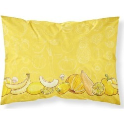 Fruits and Vegetables in Yellow Fabric Standard Pillowcase BB5134PILLOWCASE