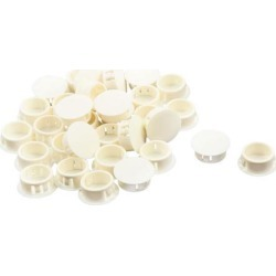 Unique Bargains 32 Pcs Antislip Plastic Round 20mm Dia Chair Foot Cover Table Furniture Leg Protector White found on Bargain Bro India from Newegg Canada for $11.27
