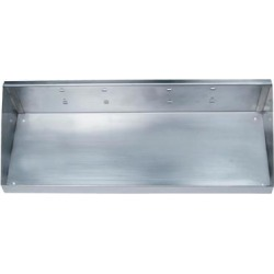 Stainless Steel Shelf, Screw In Mounting Type, Silver, Finish: Stainless Steel