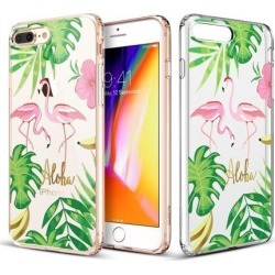 iPhone 8 Plus Case, iPhone 7 Plus Case, ESR Clear [Aquarelle Print Design] Cover with Flexible Bumper [Soft TPU Frame + Hard PC Back] Shock Absorption