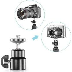 Neewer Mini Metal 360 Degree Swivel Camera Tripod Ballhead with 1/4' Screw