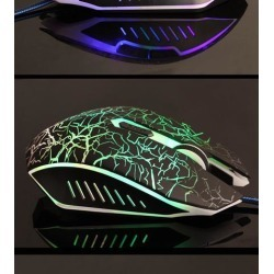 DOBACNER 7 color glare mouse USB computer wired gaming mouse
