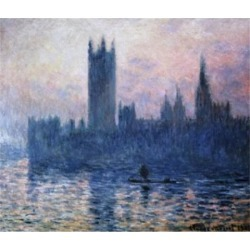 Posterazzi SAL900119929 The Houses of Parliament Sunset 1903 Claude Monet 1840-1926 French Oil on Canvas National Gallery of Art Poster Print - 18.