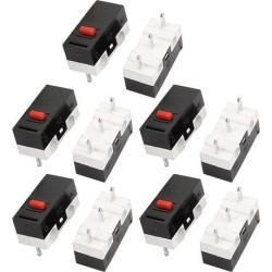 10Pcs 12.6x5.8x6.2mm Panel PCB Momentary Push Button Switch 3 P For Gaming Mouse