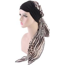 Women Cancer Hat Chemo Inner Cap Hair Loss Head Scarf Turban Wrap Brown