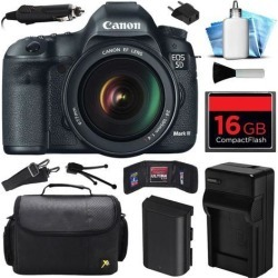 Canon EOS 5D Mark 3 III DSLR Digital Camera w/ 24-105mm Lens (16GB Value Bundle)