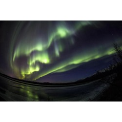 Posterazzi DPI12305705 Northern Lights Over The Knik River Near Palmer - Alaska United States of America Poster Print by Kevan Dee, 19 x 12