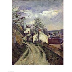Posterazzi BALXIR197272LARGE The House of Doctor Gachet Poster Print by Paul Cezanne - 24 x 36 in. - Large