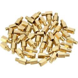 46pcs M3 6+4mm Female Male Thread Brass Hex Standoff Spacer Screws PCB Pillar