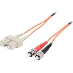 Cables To Go 09129 6.56 ft. SC/ST Duplex 62.5/125 Multimode Fiber Patch Cable