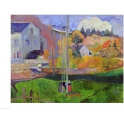 Posterazzi BALXIR37621LARGE Brittany Landscape - The David Mill 1894 Poster Print by Paul Gauguin - 36 x 24 in. - Large