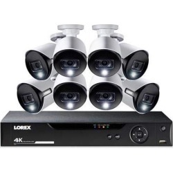 Lorex LHV51082T8KX 8 Channel 4K Ultra HD 8 Channel DVR Security System with 8 Active Deterrence 4K (8MP) Cameras found on Bargain Bro India from Newegg Business for $899.99