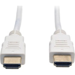 Tripp Lite High Speed HDMI Cable, Ultra HD 4K x 2K, Digital Video with Audio (M/M), White, 6-ft. (P568-006-WH)