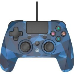Snakebyte Gamepad for Playstation 4 - Wired PS4 Controller with 3m Cable - Blue Camo