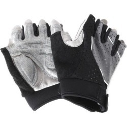 Unisex Outdoor Bike Riding Cycling Gloves Half Finger Summer Anti-slip Gray and Black S