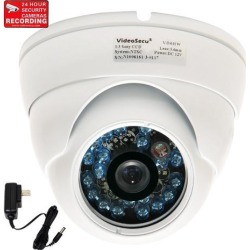 VideoSecu Dome 600TV Line Built-in 1/3' SONY CCD Outdoor Surveillance Security Camera IR Day Night Vision Vandal Proof Infrared 3.6mm Wide Angle Lens