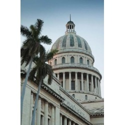 Cuba, Havana, Dome of the Capitol Building Poster Print by Walter Bibikow (25 x 37)