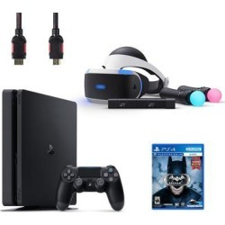 PlayStation VR Starter Bundle (5 Items): PlayStation 4 Console, VR Headset, 2 Move Motion Controllers, PlayStation Camera, and Batman Arkham VR.