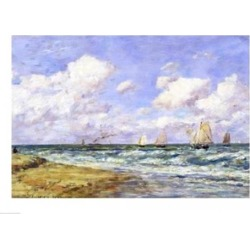 Posterazzi BALXLH26183LARGE Marine Scene 1894 Poster Print by Eugene Louis Boudin - 36 x 24 in. - Large