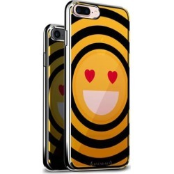 LUXENDARY EMOJI WITH HEART SHAPED EYES DESIGN CHROME SERIES CASE FOR IPHONE 6/6S