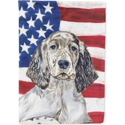 USA American Flag with English Setter Flag Canvas House Size