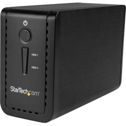 StarTech S352BU313R 3.5' External Dual Hard Drive Enclosure - Raid - USB-C and USB-A - SATA 6Gbps - 2 Bay USB 3.1 SSD HDD Enclosure found on Bargain Bro India from Newegg Canada for $95.22