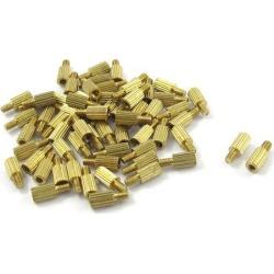 Unique Bargains 50 Pcs Gold Tone Male Female PCB Pillars Standoff Spacers M2x5mmx8mm