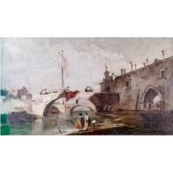 Posterazzi SAL900100260 Bridge in Venice by Canaletto 1697-1768 Poster Print - 18 x 24 in.