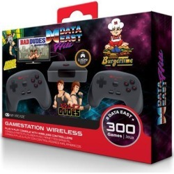 MY ARCADE GameStation Wireless Plug & Play Console 300 Built-in Retro Games w/ Data East Hits - Bad Dudes, Caveman Ninja, BurgerTime, Karate Champ,