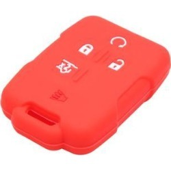 Red 5 Button Car Remote Key Case Holder Shell Cover for GMC