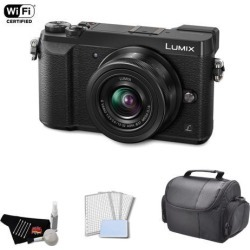 Panasonic Lumix 4k Mirrorless Micro Four Thirds Digital Camera with 12-32mm Lens (Black) Bundle with Carrying Case