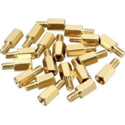 20pcs M3 7+5mm Female Male Thread Brass Hex Standoff Spacer Screws PCB Pillar