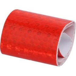 5cm x 0.5M Honeycomb Single Sided Adhesive Reflective Warning Tape Red