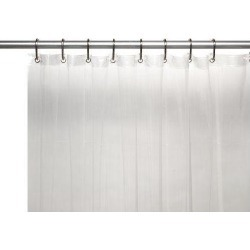 Carnation Home Fashions 10-Gauge PEVA 54 by 78-Inch Shower Curtain Liner, Stall